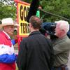 Interviewing the very scary and controversial Fred Phelps of the Westboro Baptist Church.